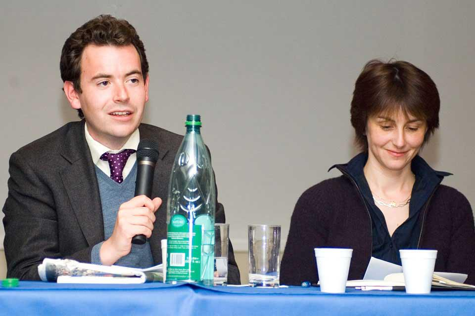 Nick Luck and Tanya Stephenson at the annual Cheltenham Preview Evening