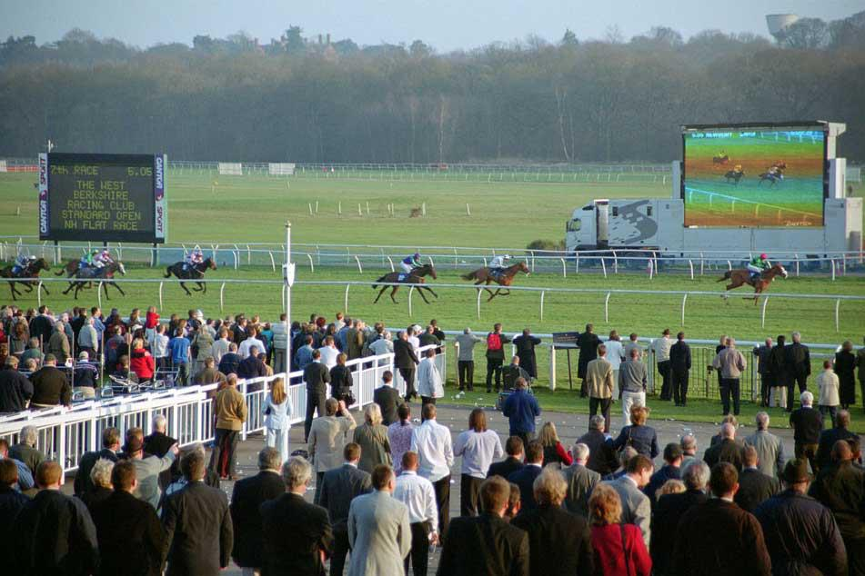 The annual race at Newbury sponsored by the Club