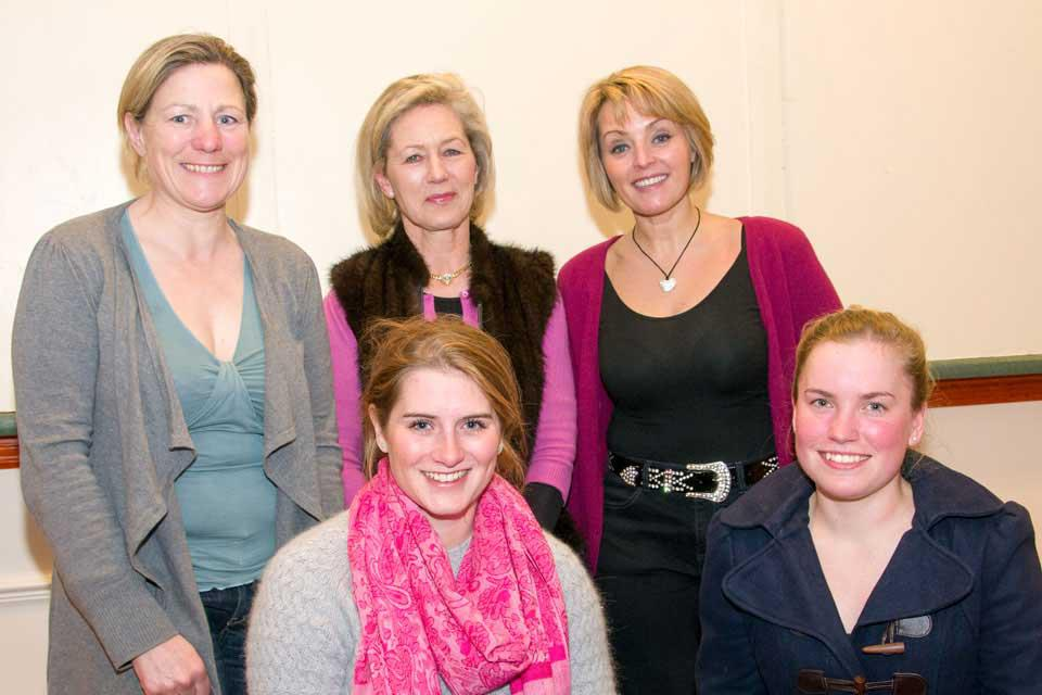 Lady Jockeys Evening: Eve Johnson Houghton, Diana Henderson, Emily Jones, Gina Andrews and Nicole Nordblad